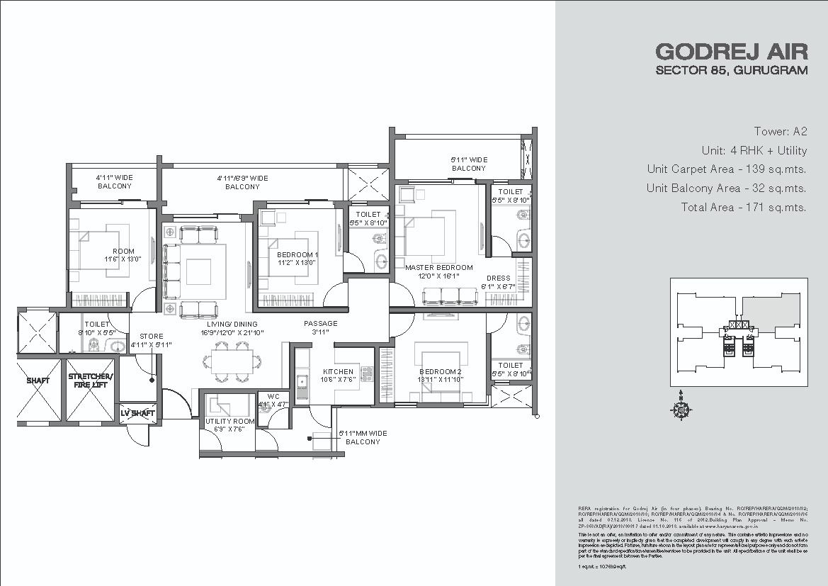 Godrej-Air-Floor-Plans-4BHK + Utility Tower-A2