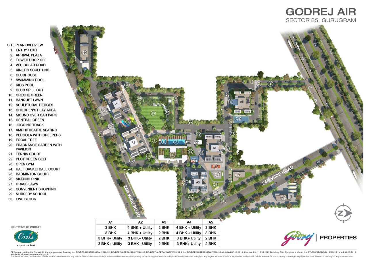 Godrej Air Siteplan Map